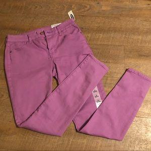 Purple Old Navy Rockstar Super Skinny Jeans